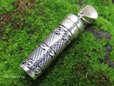 Sterling Silver Bali Perfume Cremation Pendant PP-517