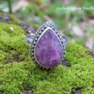 Silver and Sugilite Gemstone Ring RI-677 Choose Size 6,7,8,9 or 10