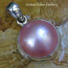 Sterling Silver Pink Mabes Pearl Pendant SP-808-KT