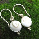 Sterling Silver Eye of Shiva Shell Earrings ER-874