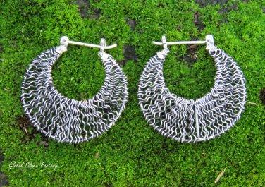 925 Silver Crazy Wire Hoop Earrings SE-284