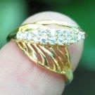 18k Gold and Zirconia Women's Ring GPR-150