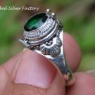 Green Quartz Poison Locket Ring LR-752