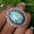 Larimar and Filigree Silver Pendant SP-853