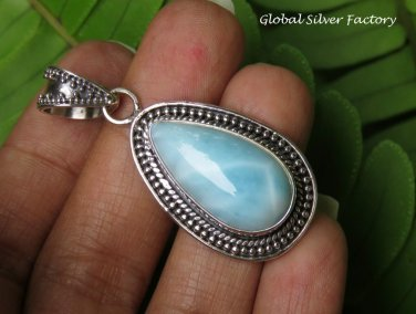 Larimar Gemstone and Silver Pendant SP-854