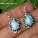 Balinese Curly Design Larimar Earrings ER-854-KT