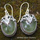 Green Flourite Gemstone Earrings ER-858