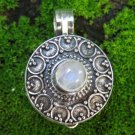 Rainbow Moonstone and Silver Locket Pendant LP-258