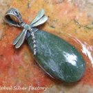 Silver and Aventurine Dragonfly Pendant SP-798-KA