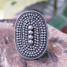 925 Silver Bali Beaded Ring, Rope Design, Adjustable Size SR-260-DG