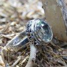 Silver Ring//Green Amethyst//Handmade Ring//Bali Ring//Genuine Amethyst RI-749-KT