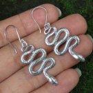 Sterling Silver Earrings//Snake//Gothic//Animal // Dangle Earrings SE-319-KA