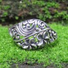 Sterling Silver Frangipani Ring , Floral Ring , Tropical Jewelry SR-267-KA