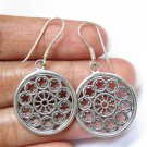 Unique Silver Round  Helm , Steering Wheel Ship Design Earrings SE-315-NY