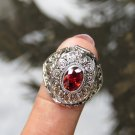 Sterling Silver Garnet Poison Ring LR-779-KA