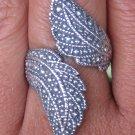 Stunning 925 Silver Bali Ring//Leaf Design//Overlap Ring//Adjustable Size SR-257-IKP