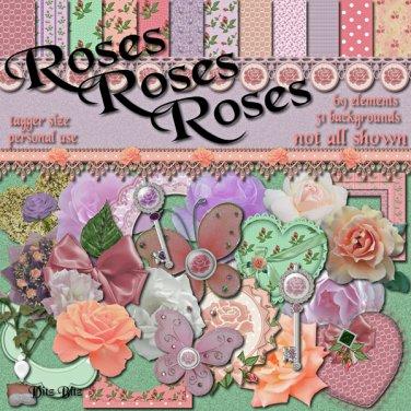 Roses Roses Roses Digital Scrapbook Kit