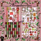 Strawberries Digital Scrapbook Kit