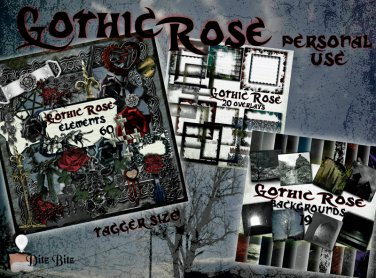 Gothic Rose Digital Scrapbook Kit