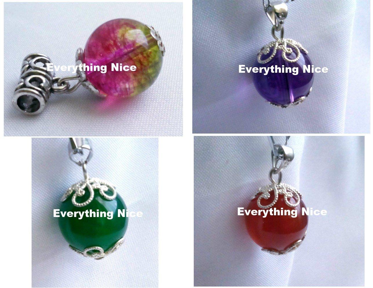 Set of 4 pcs agate pendants charms for necklaces or bracelets