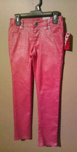 New Bongo Girls Size 7 Hot Pink Glitter Skinny Jeans