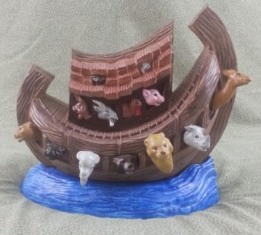 "Ceramic Noah's Ark - Beautifully Creative 10 1/2"" L x 9"" W x 11"" T"