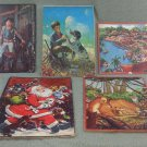 "5 Vintage 14"" Puzzle Collection - Whitman, Bambie, A Cucchi & Jaymar Specialty"