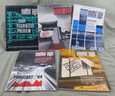1963-1964 Motor Age Vintage Magazines - Includes 5 Issues!