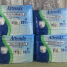 """Attends Youth Briefs 20""""-28"""" (51-71cm) - 48 Briefs (4 Packages)!"""