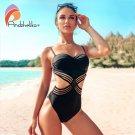 Andzhelika Sexy One-piece Swimsuit Push Up Swimwear Patchwork (IROCKBAGS.COM)