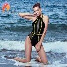 Andzhelika Sexy One-Piece Swimsuit Mesh Patchwork Swimwear (IROCKBAGS.COM)
