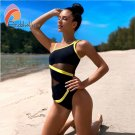 Andzhelika Sexy One Shoulder One Piece Swimsuit 2020 New Off Shoulder (IROCKBAGS.COM)