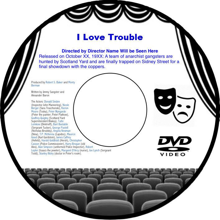 I Love Trouble 1948 DVD Film Detective Crime Drama Franchot Tone Janet Blair Jan