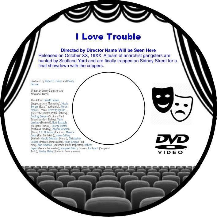 I Love Trouble 1948 DVD Film-Noir Mystery Franchot Tone Janet Blair Janis Carter
