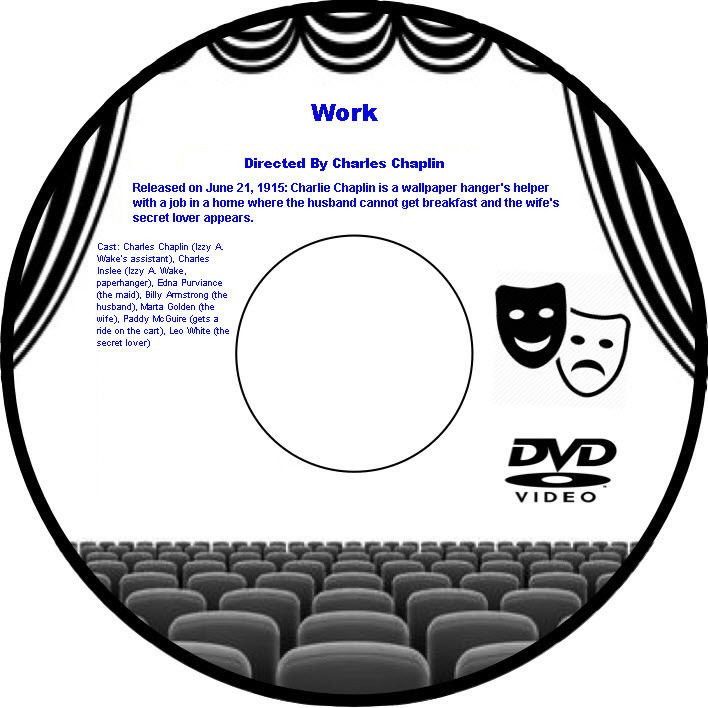 Work 1915 DVD Comedy Short Film Charles Chaplin Charles Billy Armstrong Marta Go