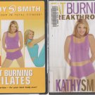 KATHY SMITH EXERCISE DVD LOT-FAT BURNING BREAKTHROUGH & FAT BURNING PILATES
