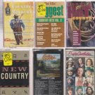 COUNTRY CASSETTE LOT (6)
