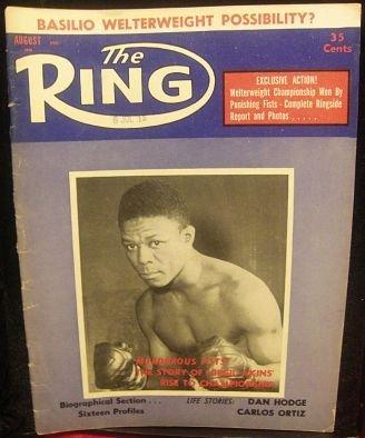 The RING MAGAZINE AUGUST 1958 DAN HODGE CARLOS ORTIZ CARMEN BASILIO ANTONINO ROCCA