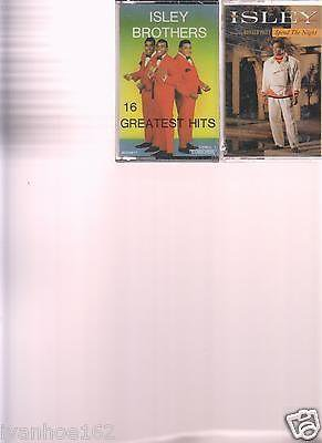 Isley Brothers 16 Greatest Hits (NEW) & SPEND THE NIGHT (2) Cassettes