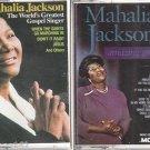 AMAZING GRACE & The World's Greatest Gospel Singer Mahalia Jackson CASSETTES