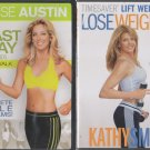 Kathy Smith Loose Weight 2 & Denise Austin Blast Away the Pounds DVD lot