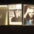 STING CASSETTE TAPE LOT (3)