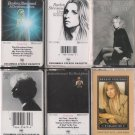 BARBARA STREISAND CASSETTE TAPE LOT (6)