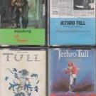 Jethro Tull Cassette Lot (4)