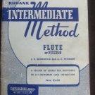 Rubank Intermediate Method for Flute or Piccolo
