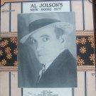 NO MORE WORRYIN AL JOLSON 1926  SHEET MUSIC