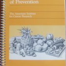 An Ounce of Prevention: Summer Volume (AICR Cookbook Series)  Cancer Research