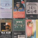 Willie Nelson Cassette Lot (5.99)