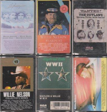 Willie Nelson Cassette Lot (5.99)