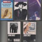 JOAN BAEZ MUSIC CASSETTE LOT (5)
